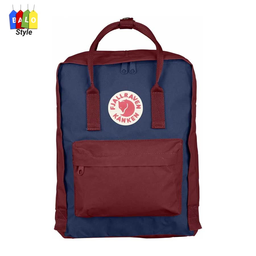 Balo Kanken Classic Royal Blue/Ox Red – Fjallraven Brand