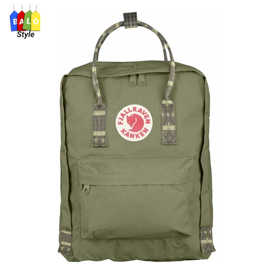 Balo Kanken Classic Green-Folk Pattern (New colour) – Fjallraven Brand